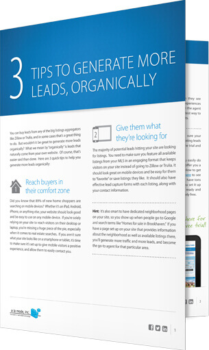 Free e-book: 3 tips for generating more leads organically
