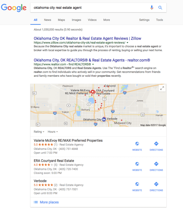 Real estate SEO - Google My Business listings