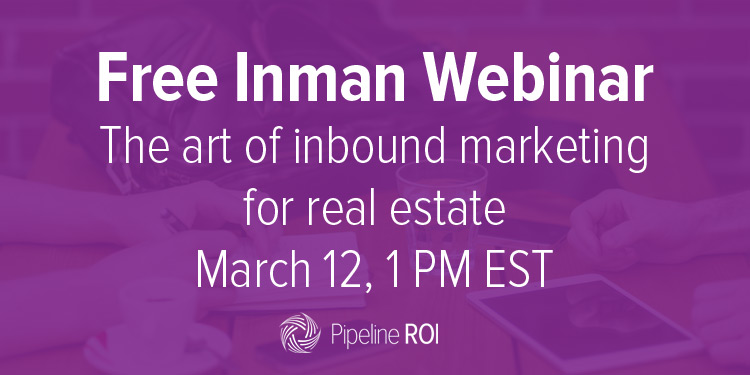 Check out our Inman webinar: The art of inbound marketing for real estate!