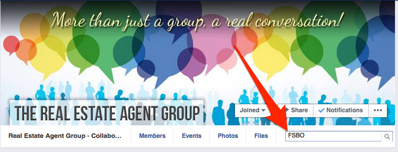How to search in Facebook groups