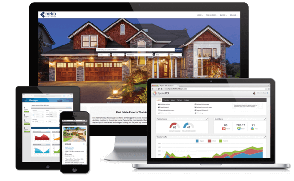 Pipeline ROI website and marketing solutions showing on desktop, laptop, ipad, and iphone