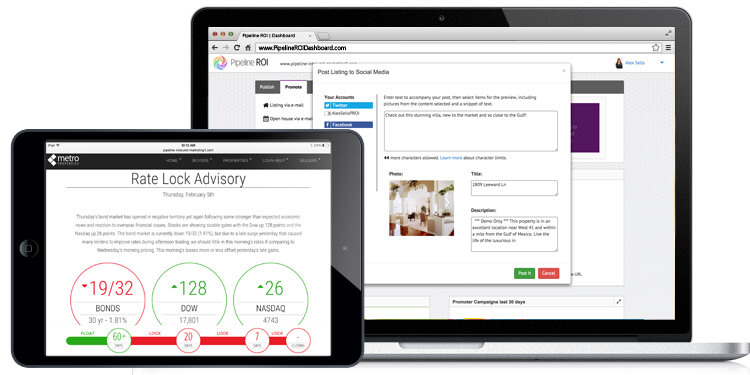 Product updates: inbound marketing dashboard, Daily Rate Lock Advisory, and more