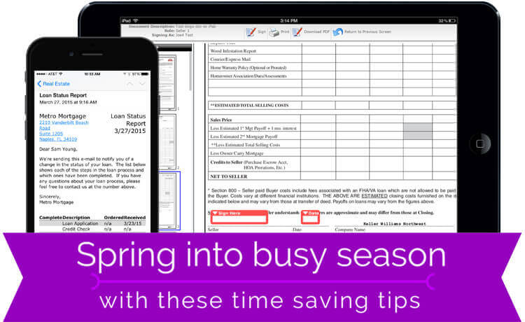 Spring into busy season with these time saving tips